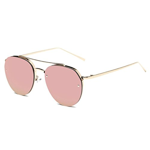 Nibito Fashion Sunglasses Metal Reflection Mirror Frame From Lens Sunglasses Glasses (Rose - Ray Bans Rose Gold