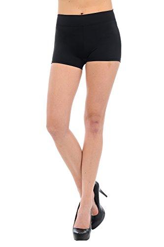 Anza Womens Active Wear Dance Booty Shorts-Black,Medium -