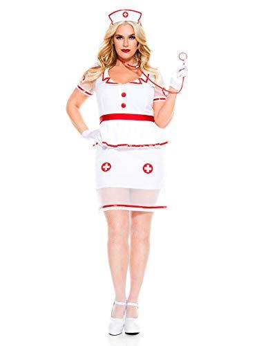 Music Legs Sexy On Call Nurse Costume (1X/2X) ()