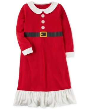 Carter's Girls' L/S Holiday Nightgown (Toddler/Kid) (2-3, Red Mrs. Claus) -