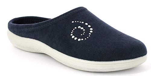 Ciabatte Donna Invernali Art Blu Inblu Da Pantofole Bs 38 Nuovo q1S67w4fn