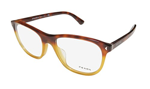 Prada Titanium Eyeglasses - Prada Vpr17r-F Womens/Ladies Designer Full-rim Eyeglasses/Eyewear (56-19-145, Havana / Honey)