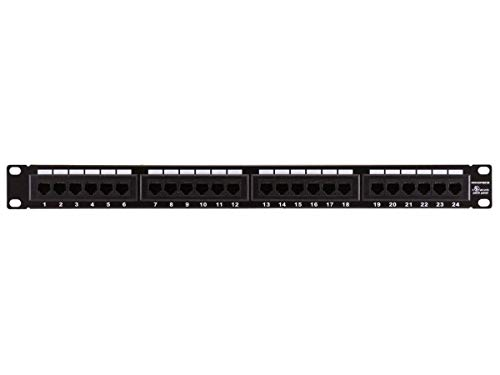 (Monoprice 107253 110 Type 24-Port Cat6 Patch Panel (568A/B Compatible))