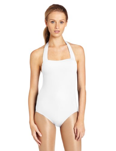 Capezio Women's Halter Leotard,White,Medium (Halter White Apparel)