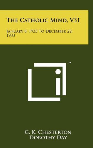 The Catholic Mind, V31: January 8, 1933 To December 22, 1933 ebook
