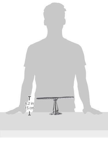 KINDWER Beaded Aluminum Cake Pillar, 12-Inch, Silver by KINDWER (Image #2)