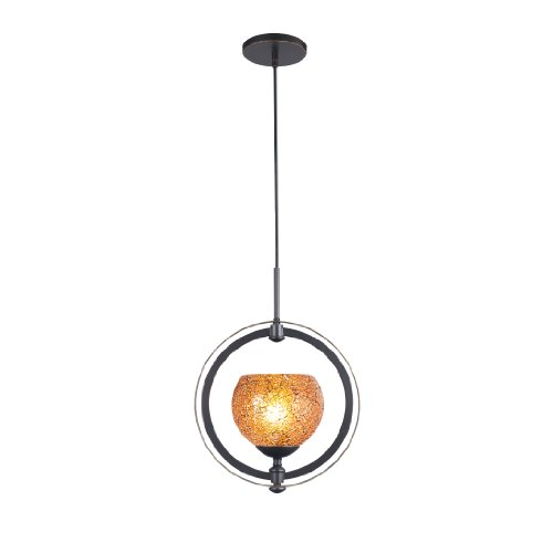- Woodbridge Lighting 13320MEB-M00AMB Cirque 1-Light Mid Pendant, Metallic Bronze