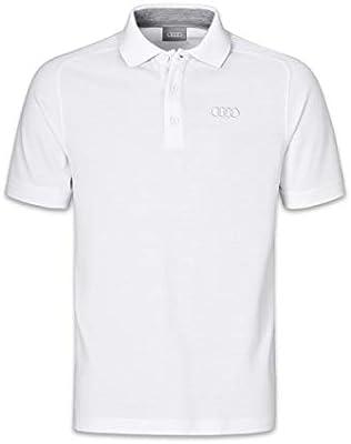 Audi collection - Polo para Hombre, diseño de Anillos Blanco XXXL ...