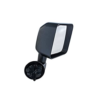 Passenger Side Mirror for Jeep Wrangler (2007 2008 2009 2010 2011 2012 2013 2014 2015 2016 2020) Textured Non-Heated Folding Door Right Rear View Door Replacement Mirror CH1321271: Automotive