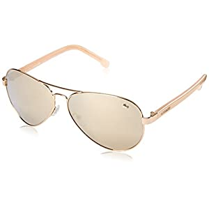Lacoste Men's L163S Aviator Sunglasses, Gold, 62 mm