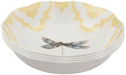 (Lenox Butterfly Meadow Trellis Fruit Bowls (Set of 4), White)