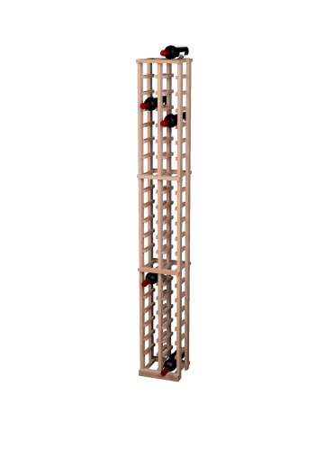 Wine Cellar Innovations Traditional Premium Redwood 2 Column Wine Rack, Unstained