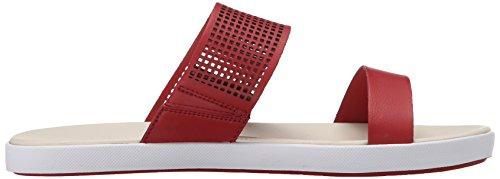 Sandal Slide Red Lacoste Women's Flat Dark Natoy wEwIqfR