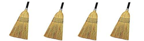Genuine Joe GJO58563 Natural Fiber Janitor Lobby Blend Manual Broom, 56'' Handle Length, 11'' Bristles (4) by Genuine Joe