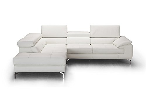 (J and M Furniture 18275-LHFC Olivia Premium Leather Sectional in Chaise)
