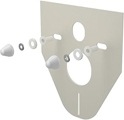 f/ür Wand WC und Bidet Farbe:wei/ß AlcaPlast M910 Schallschutzset 5 mm mit Schraubenabdeckung