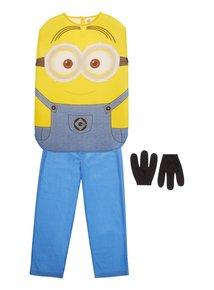 Tu Despicable Me Minion Dave disfraz con 3 dedos guantes edad 5 A ...