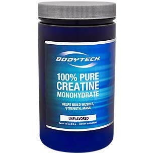 BodyTech 100 Pure Creatine Monohydrate Unflavored 5 GM/Serving Supports  Muscle Strength Mass (18