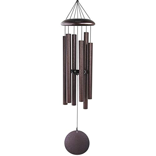 "ASTARIN Large Wind Chimes Outdoor,36"" Memorial Wind Chimes Amazing Grace Bronze with 6 Metal Tubes Tuned Deep Tone for Garden Patio and Home Housewarming Hanging Decor,Sympathy Gifts"