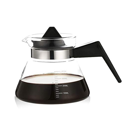 Tea Kettle Clear Glass Teapot Kettle Hand-rushing Coffee Pot Coffee Carafe Range Server Coffee Jug Decanter Water Kettle Oil PotCoffee Maker (Color : Black)