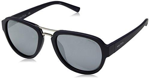Nautica Men's N3625sp Polarized Aviator Sunglasses, MATTE NAVY, 57 mm ()