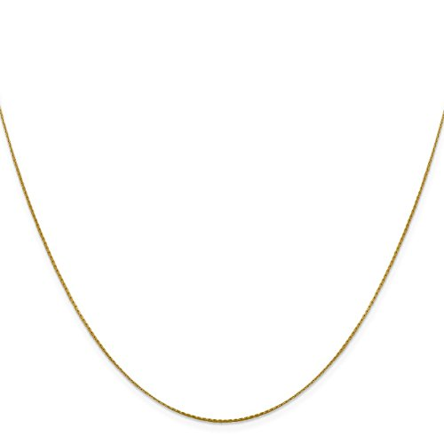 Boston Chain Link (Lex & Lu Leslie's 14k Yellow Gold Boston Link Chain Necklace-Prime)