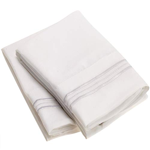 Mellanni Luxury Pillowcase Set - Brushed Microfiber 1800 Bed