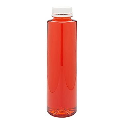 16-OZ Cylindrical Plastic Juice Bottles - Cold Pressed Clear Food Grade PET Bottles with Tamper Evident Safety Cap: Perfect for Cafés and Catering Events - Disposable and Eco-Friendly – (16 Oz Plastic Cylinder Bottles)