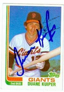 (Duane Kuiper autographed Baseball Card (San Francisco Giants) 1982 Topps #60T Traded)