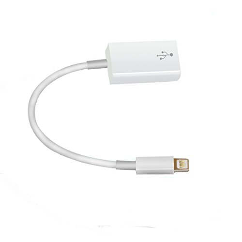 Crelander USB Female OTG Adapter Cable Connect Kit Compatible with Ipad 4 for Ipad Air and Ipad Mini 5s 6 6s 7 Plus for iOS 10.3 System (White)