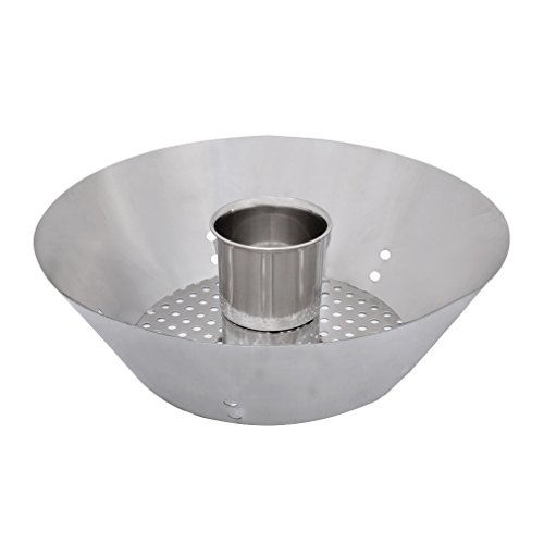 """Blumoker BBQ Stainless Steel 16"""" Round Charcoal Briquet Holders for Weber Char-Broil and other Charcoal Kettle Grills and Kamado Ceramic Grills"""