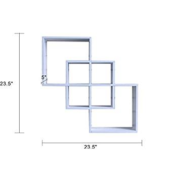 Shelving Solution Quadrate Decorative Wall Shelf (white)