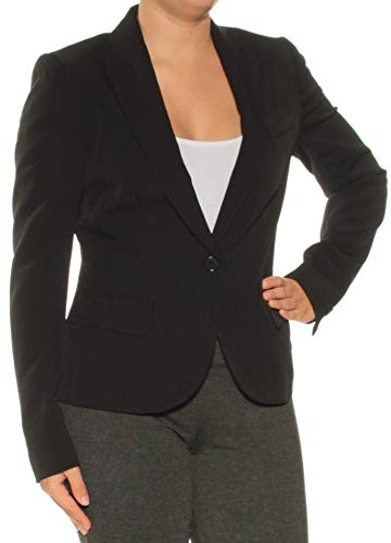 Anne Klein Womens One-Button Professional Pant Suit Black ()