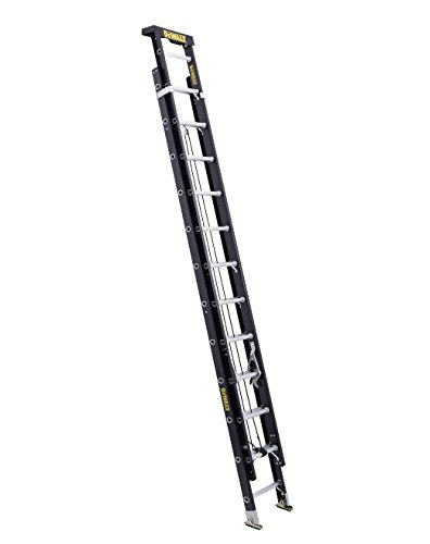 DeWalt DXL3020-16PT 16-Feet Fiberglass Extension ladder Type IA with 300-Pound Duty Rating, 16-Feet