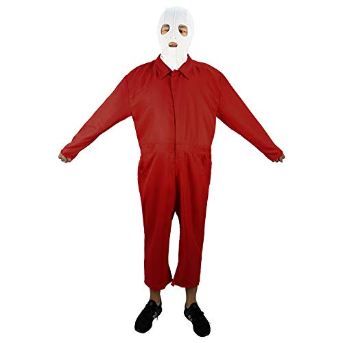 Adults Us Costume Red Jumpsuit Adelaide Cosplay for Men Women Halloween 2019 (Adults XL, Jumpsuit/mask) ()