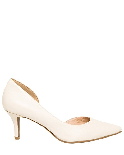 LE CHÂTEAU Women's Leather Half D'Orsay Pump,9,Ivory