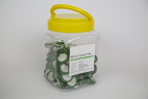 Foxx Life Sciences 384-2216-OEM Nylon EZFlow Syringe Filter Sample Prep, 25 mm Diameter.2 µm Pore Size (Pack of 100) by Foxx Life Sciences