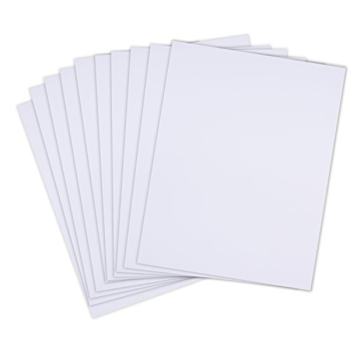 Rozzy Crafts Matte White Adhesive Vinyl - 10 Sheets Each 12 in x 13 in Permanent Craft Vinyl for Cricut, Silhouette, and Other Cutting Machines