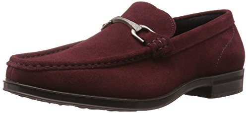 Stacy Adams Mens Newcomb Moc Punta Un Po slip-on Penny Loafer Scamosciato Oxblood