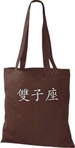 Shirtinstyle - Bolso de tela de algodón para mujer - chocolate