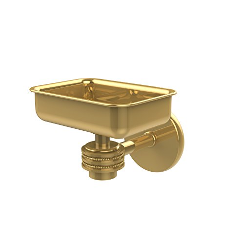 (Allied Brass 7132D-PB Satellite Orbit One Wall Mounted Soap Dish with Dotted Accents Polished Brass)
