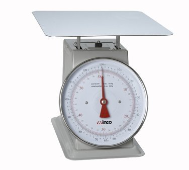 Winco SCAL-9130 130-Pound/59.09kg Scale with 9-Inch Dial by Winco