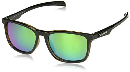 Pepper's Hat Trick Polarized Oval Sunglasses, Matte Black over Green Tortoise, 58 mm]()