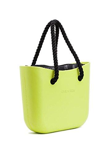 LIME AND SODA Women's Fashion Eva handbag - Mix and Match - Lime