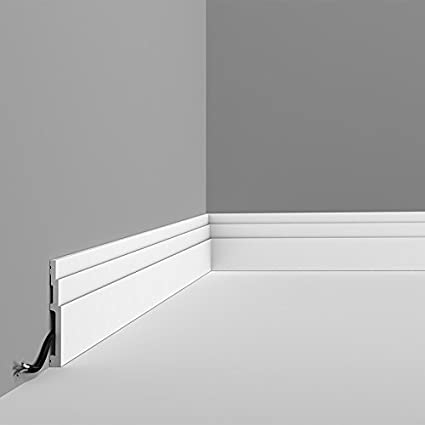 Orac Decor Baseboard Moulding SX180 Baseboard Moulding, Primed White  Face:  4-3/4