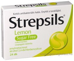 Strepsils Lemon Sugar Free 24x Tablets