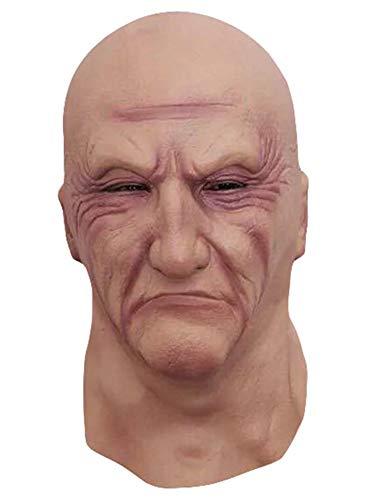 Halloween Creepy Old Man Latex Mask Cosplay Costume Parties -