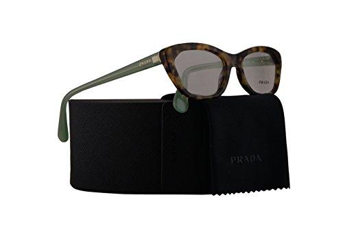 Prada PR03QV Eyeglasses 52-18-140 Spotted Brown Green w/Demo Clear Lens UEZ1O1 VPR03Q VPR 03Q PR - Www.prada.com Usa