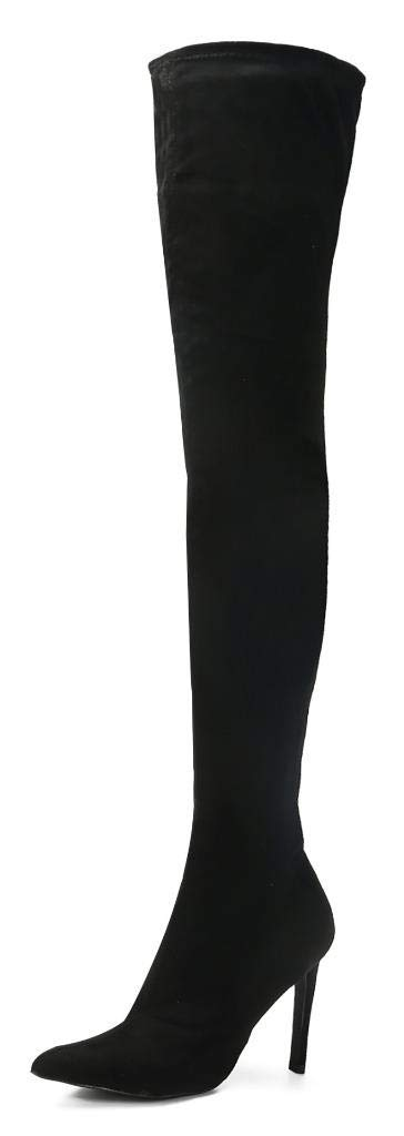 CAMSSOO Women's Fashion Knee High Boots Faux Suede Pointed Toe Side Zip  Stiletto Heeled Over The Knee Thigh High Winter Boots- Buy Online in  Gibraltar at gibraltar.desertcart.com. ProductId : 57783257.