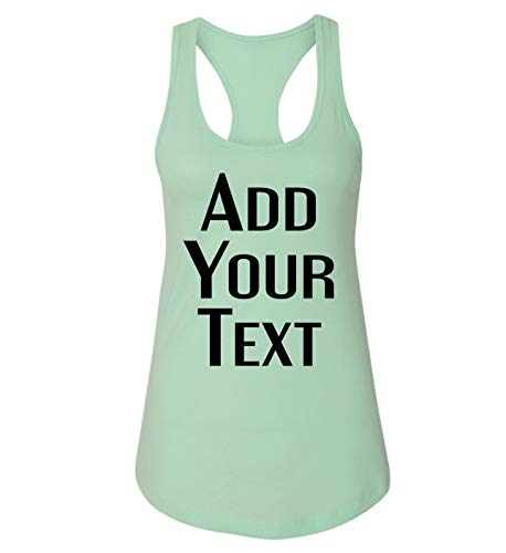 TEEAMORE Women Custom Tank Top Add Your Text Design Your Own Printing in The USA Mint